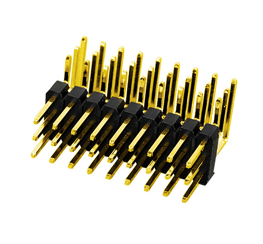 PH2.54mm Pin Header Three Row Single Body Right Angle Type Board to Board Connector Pin Connector