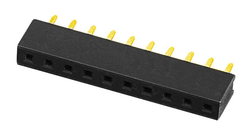 PH2.0mm H=4.0,4.3,4.6mm Female Header U-type Single Row Straight Type Board to Board Connector