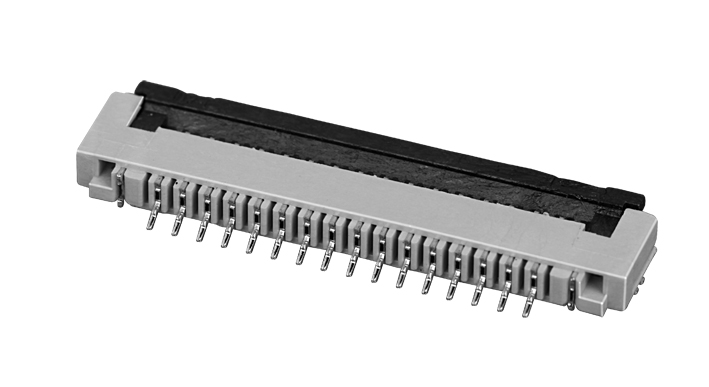 PH1.0mm FPC, H=2.0mm down contact type with cover lock FPC connector