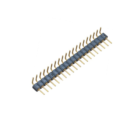 PH2.54mm Machined Pin Header H=3.0 Single Row Right Angle Type