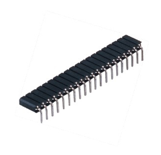 PH2.54mm Machined Female Header H=7.0 Single row Right Angle Type