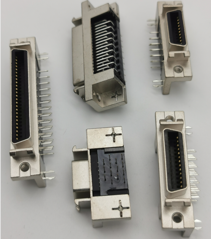 1.27mm SCSI 14/20/26/36/50P Female Right Angle DIP Type